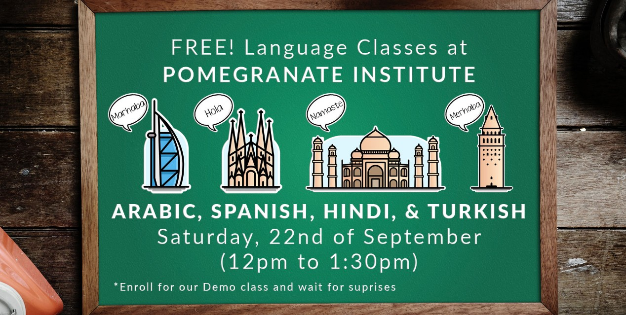 Free Arabic, Spanish, Hindi & Turkish Demo Class