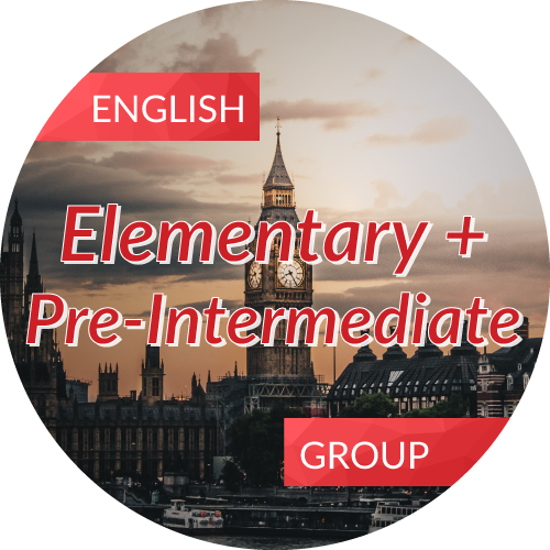 English<br/>Elementary + Pre-Intermediate