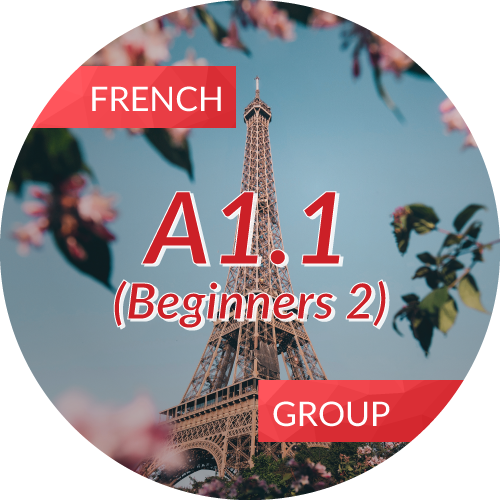 French<br/>A1.1 (Beginners 2)